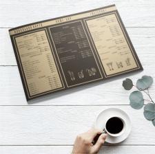 Алкогольная карта для кафе-бара