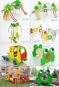 Дизайн, моделирование и фото детской площадки