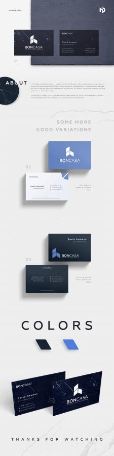 Дизайн визитки архитектурной компании