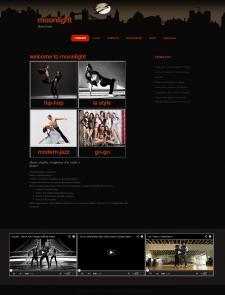 Сайт для танцевальной студии стр.1