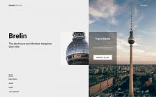 Дизайн сайта для путешествия в Берлин (на тусовки)