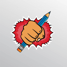 Рука карандаш