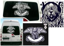 """Auto sticker design """"Show dogs on board"""""""