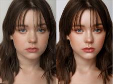 Hi-end ретушь портрета