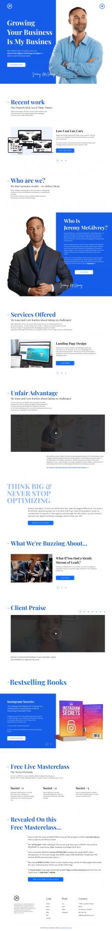 Редизайн сайта для американского маркетингового аг