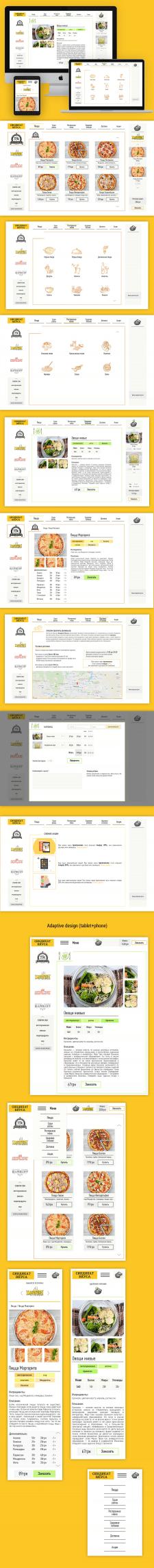 Раздел сайта: Доставка еды, десктоп+адаптив