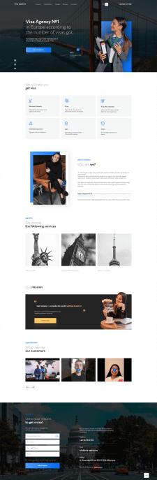 Сайт компании Visa Agency