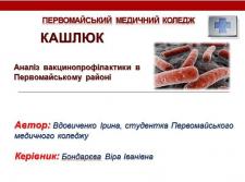 Дипломна робота(медицина). Аналіз вакцинопрофілаки