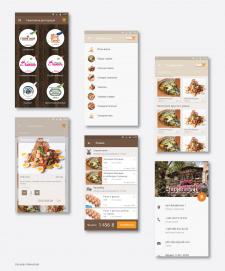 Прототип и дизайн приложения доставки еды (iOS\And