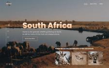 Дизайн сайта для туризма в Африку