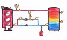 Инженерная схема. Рисунок от руки