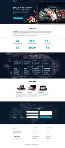 Landing page по созданию интернет-казино