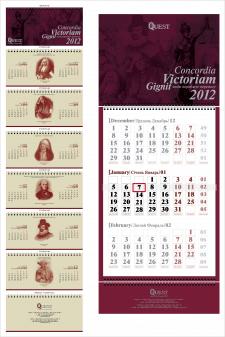 Календарь настольный и квартальный