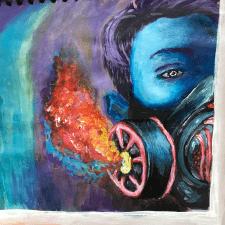 Портретная иллюстрация красками