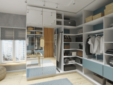 Minimalistic Closet Room (Wardrobe)