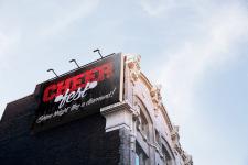 Рекламный билборд для фестиваля черлидинга