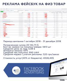Реклама фейсбук на физический товар