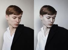 мужской портрет, художественная обработка