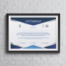 Разработка сертификата