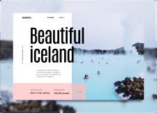 Дизайн главной страниц сайта путешествий