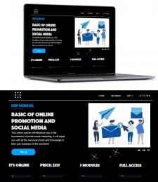 Дизайн для сайта вебинара Rifft-studio