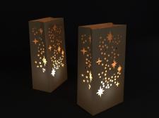 Светильники для свадьбы из крафт бумаги