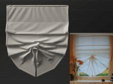 Римская штора с одним подхватом
