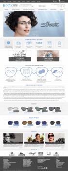 Дизайн интернет-магазина оптики