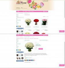 Наполнение интернет-магазина цветов