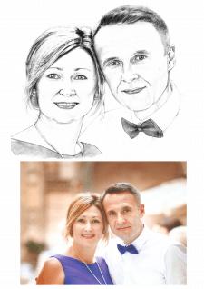 Портрет по фото карандаш