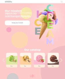 Дизайн сайта мороженого