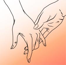 Рука в руке (Отрисовка)