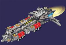 Эскиз крейсера для комикса
