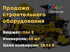 Строительное оборудование Google Adwords