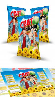 """Дизайн упаковки для семечек """"Сват"""""""