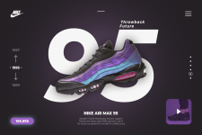 Banner design for NIKE AIR MAX 95