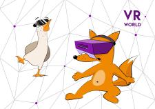 Дизайне персонажей с очками виртуальной реальности