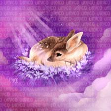 Иллюстрация с оленёнком