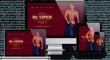 Сайт визитка для стриптизера