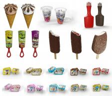 Создание моделей мороженного для сайта