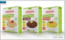 разработка линейки упаковки для хлопьев, ТМ Жменьк