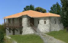 Реконструкция келии на Св. Горе Афон