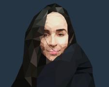 Портрет в полигональном стиле