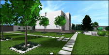 Стильный и лаконичный сад №4