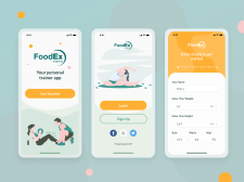Personal trainer app (mobile)