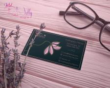 Дизайн визитки цветочного магазина