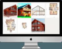 Найти проекты домов из бруса, бревна и пеноблока