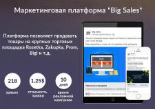 Привлечение лидов в проект Big Sales