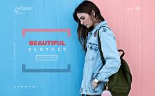 First screen для магазина молодежной одежды