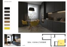 Визуализация кухни  ( вид1 )